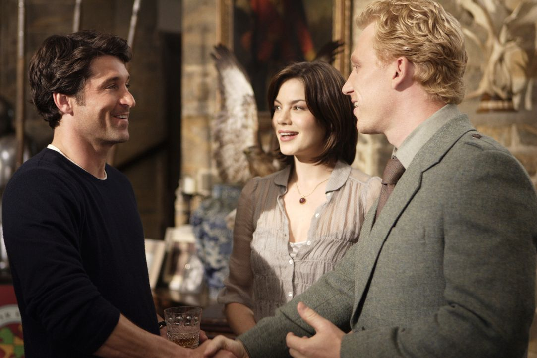 Zwischen dem eifersüchtigen Tom (Patrick Dempsey, l.) und dem Bräutigam (Kevin McKidd, r.) beginnt ein bitterer Wettkampf um die Gunst der Braut (Mi... - Bildquelle: 2008 Columbia Pictures Industries, Inc. and Beverly Blvd LLC. All Rights Reserved.