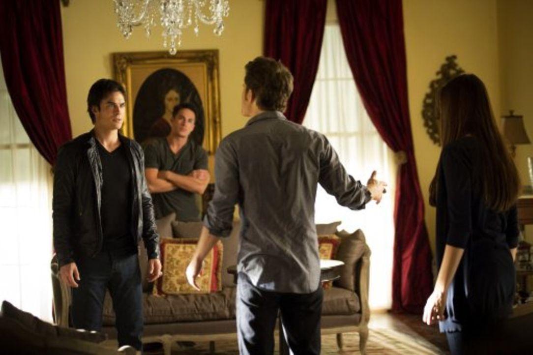 Gemeinsam wollen sie gegen den Vampirjäger vorgehen, nur einer von ihnen spielt sein eigenes Spiel (v.l.n.r.): Damon (Ian Somerhalder), Tyler (Mich... - Bildquelle: Warner Brothers