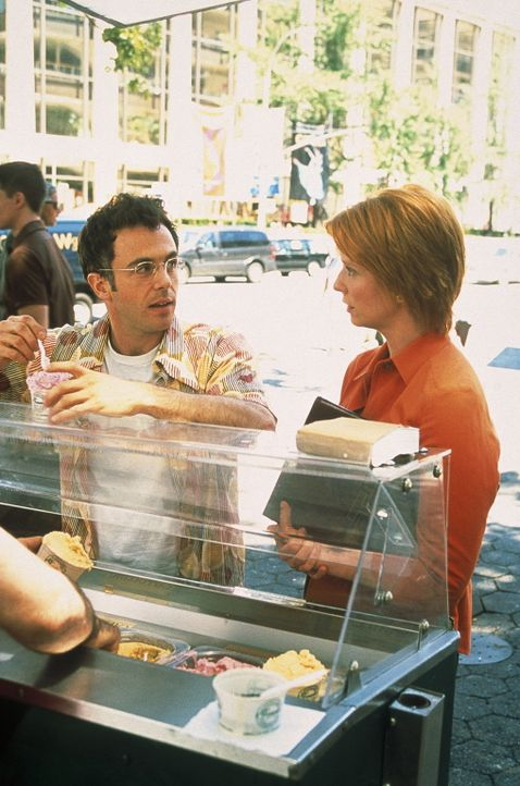 Miranda (Cynthia Nixon, r.) verfolgt ihr Ziel, ihr Kind zu bekommen - allerdings definitiv ohne Steve (David Eigenberg, l.). - Bildquelle: Paramount Pictures