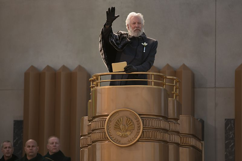 Donald Sutherland spielt Präsident Snow - Bildquelle: Studiocanal
