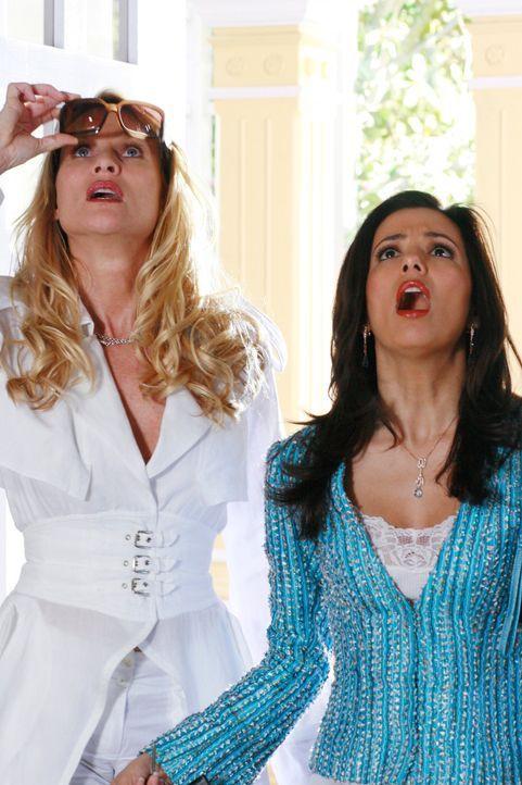 Während Gabrielle (Eva Longoria, r.) mit Edie shoppen (Nicolette Sheridan, l.) ist, ereignet sich ein Rohrbruch in ihrem Haus, durch den alle ihre K... - Bildquelle: 2005 Touchstone Television  All Rights Reserved