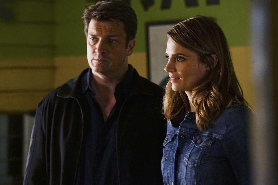 Ermitteln in einem neuen Fall: Castle (Nathan Fillion, l.) und Beckett (Stana Katic, r.) ... - Bildquelle: ABC Studios