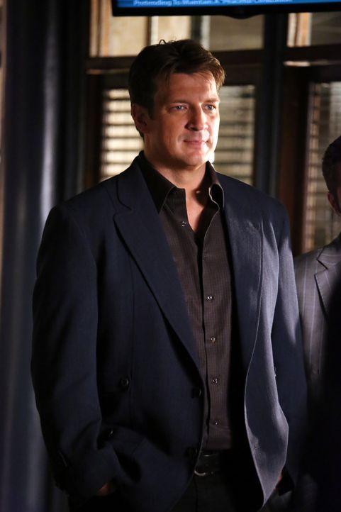 Er denkt gar nicht daran, sich von den Tatorten fernzuhalten: Richard Castle (Nathan Fillion) - Bildquelle: ABC Studios