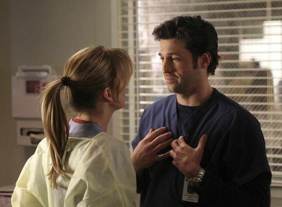 Hat ihre Liebe eine Chance?: Meredith (Ellen Pompeo, l.) und Derek (Patrick Dempsey, r.) ... - Bildquelle: Touchstone Television
