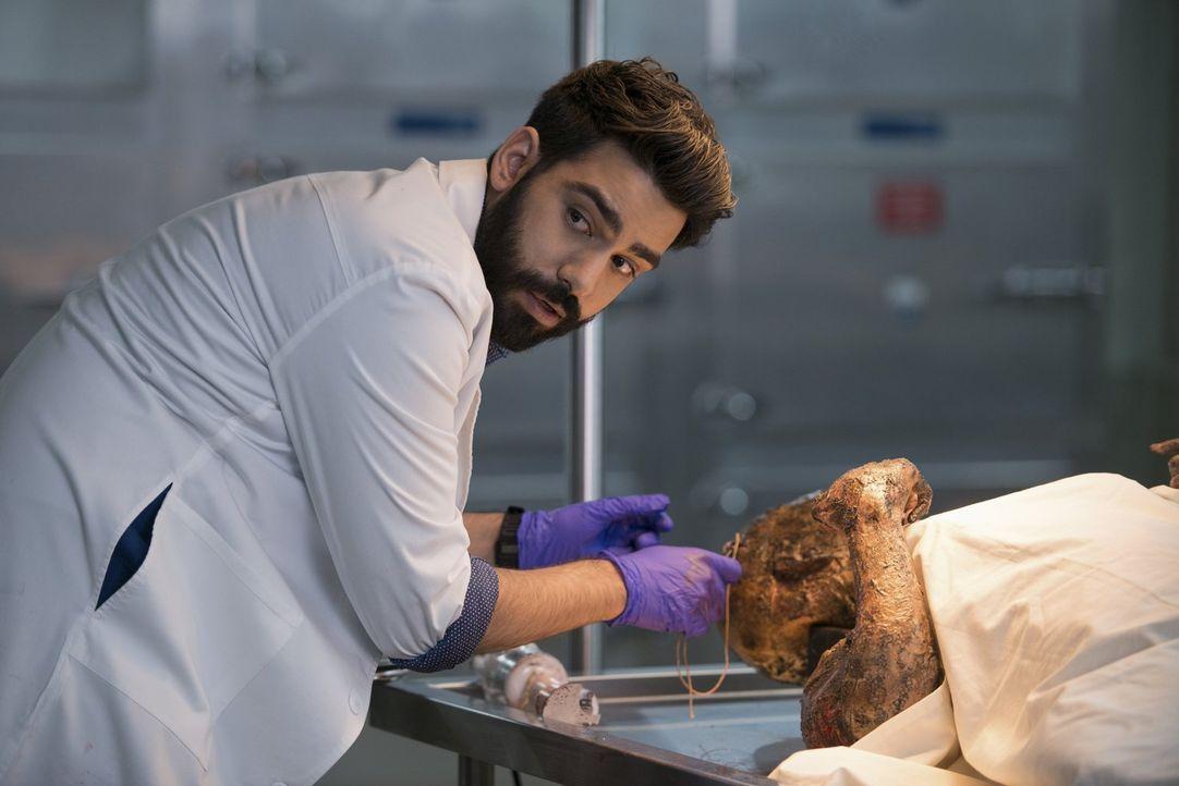 Liv spioniert Drake hinterher und weiht Ravi (Rahul Kohli) ein, nachdem sie eine erschreckende Beobachtung gemacht hat. Was wird Ravi ihr raten? - Bildquelle: 2014 Warner Brothers