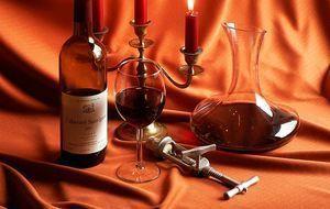 Kerzen und Wein