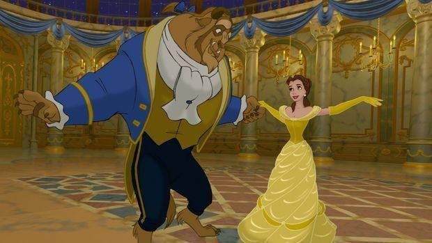 Belle und das Biest tanzen
