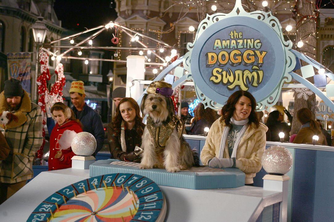 Da Lorelai (Lauren Graham, r.) neben ihrer Arbeit einen Stand auf dem Winterfest von Stars Hollow betreut, hat sie kaum Zeit für Luke. Der nutzt die... - Bildquelle: Copyright Warner Brother International Television