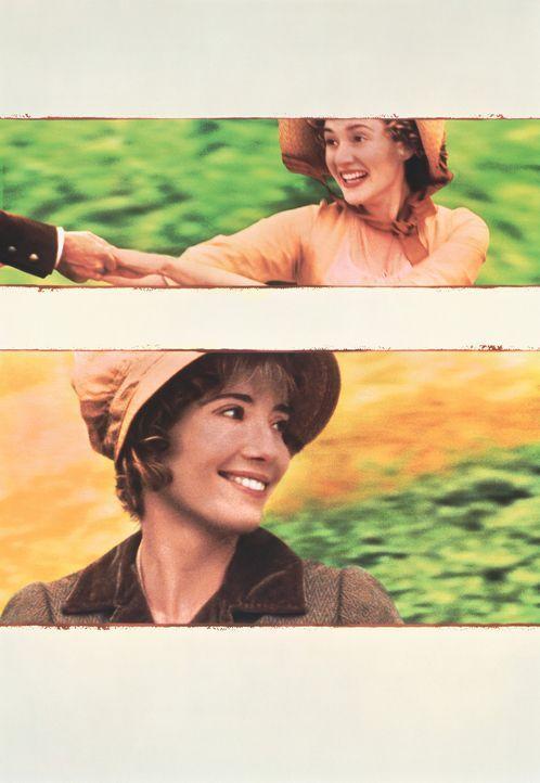 Nach dem Tod ihres Vaters müssen sich die Schwestern Elinor (Emma Thompson, unten) und Marianne Dashwood (Kate Winslet, oben) stark einschränken,... - Bildquelle: Columbia Pictures