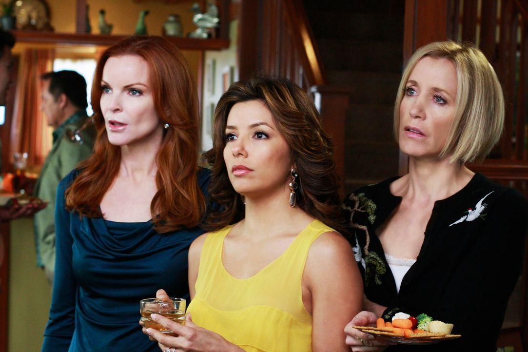Müssen sich mit einigen privaten Problemen auseinandersetzten: Gabrielle (Eva Longoria, M.), Bree (Marcia Cross, l.) und Lynette (Felicity Huffman,... - Bildquelle: ABC Studios
