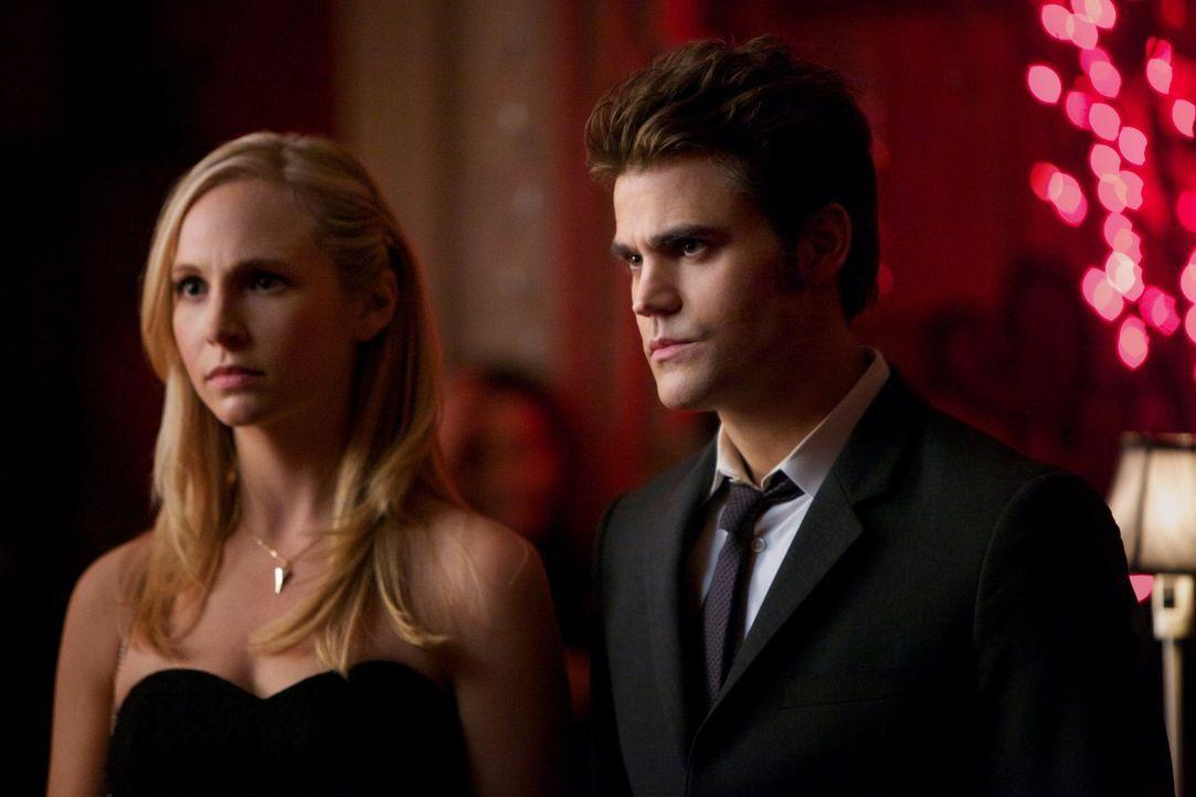 Caroline (Candice Accola, l.) und Stefan (Paul Wesley, r.) sind entsetzt, wie weit Damon für seine Rache geht ... - Bildquelle: Warner Brothers