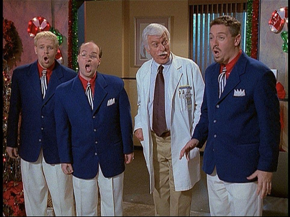 Mark (Dick Van Dyke, 2.v.r.) hat zur Weihnachtsfeier im Krankenhaus eine Gruppe Sänger eingeladen und überrascht seine Patienten mit einem Ständc... - Bildquelle: Viacom