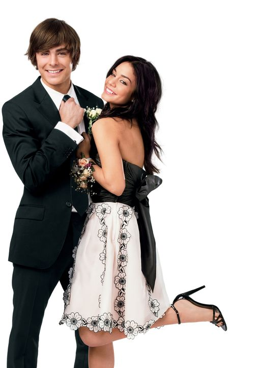 Troy (Zac Efron, l.) und Gabriella (Vanessa Anne Hudgens, r.) wollen beide auf die Universität gehen, werden aber unterschiedliche Lehranstalten bes... - Bildquelle: Disney Enterprises, Inc.  All rights reserved.