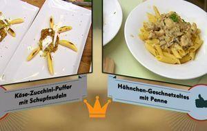 """Hauptgericht von den beiden Kandidaten Sandra und Pamela von """"Küchenköni..."""