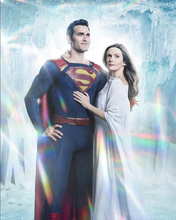 Clark Kent alias Superman (Tyler Hoechlin, l.); Lois Lane (Elizabeth Tulloch, r.) - Bildquelle: Warner Bros.