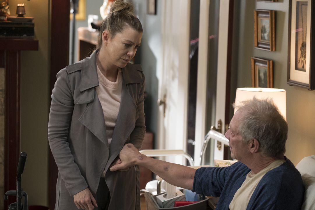 Meredith Grey (Ellen Pompeo, l.); Thatcher Grey (Jeff Perry, r.) - Bildquelle: Eric McCandless ABC Studios / Eric McCandless