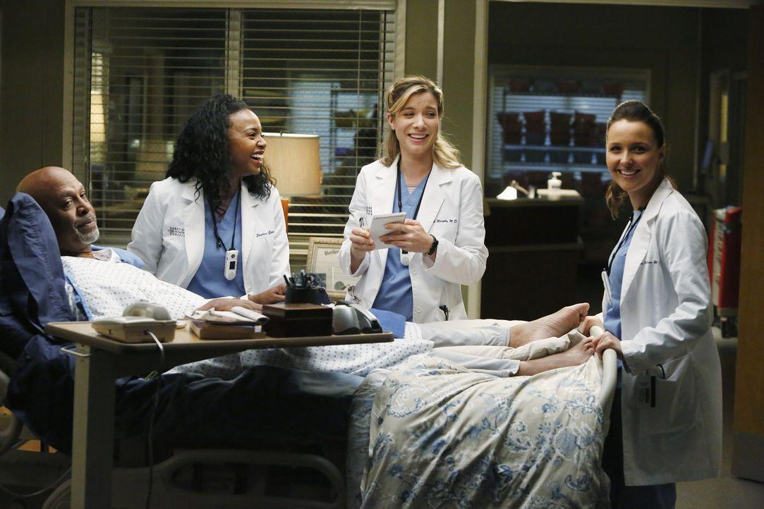 Die Sorgen um die Gesundheit von Dr. Webber (James Pickens Jr., l.) sind berechtigt. Die jungen Ärzte Stephanie (Jerrika Hinton, 2.v.l.), Leah (Tess... - Bildquelle: ABC Studios