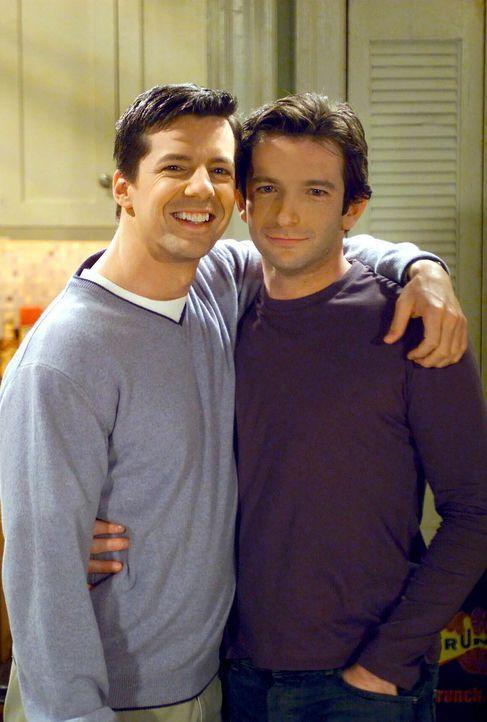 Noch scheint alles in Ordnung zwischen Jack (Sean Hayes, l.) und Barry (Dan Futterman, r.) zu sein, doch schon bald wird Will Unruhe in die Beziehun... - Bildquelle: NBC Productions