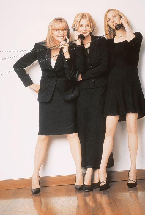 Was machen Frauen am liebsten? Na klar, Telefonieren. So auch Georgia (Diane Keaton, l.), Eve (Meg Ryan, M.) und Maddy (Lisa Kudrow, r.) ... - Bildquelle: Columbia