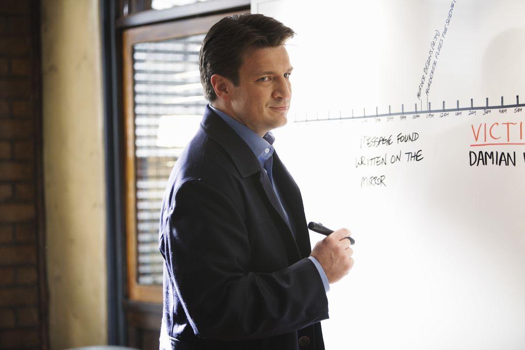 Ein neuer Fall wartet auf den Schriftsteller Richard Castle (Nathan Fillion) ... - Bildquelle: ABC Studios