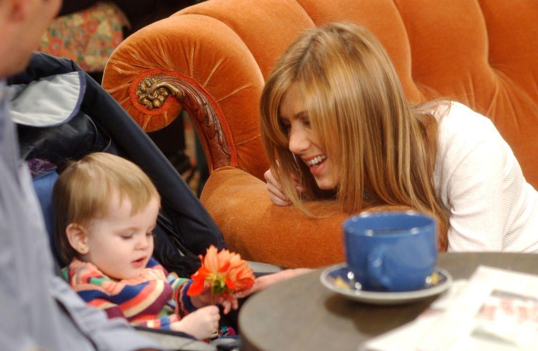 Rachel (Jennifer Aniston) stellt sich freiwillig zu Verfügung, um Ross beim Klamottenkauf für sein Date zu beraten ... - Bildquelle: 2003 Warner Brothers International Television