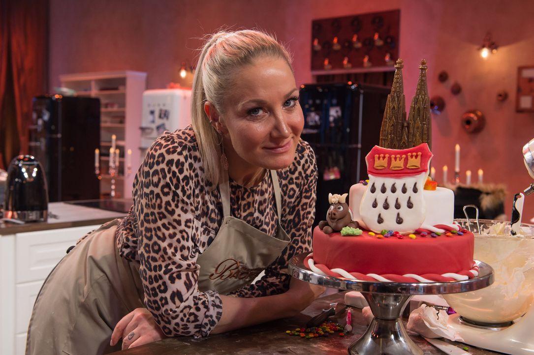 """Kann sie """"Deutschlands bester prominenter Hobbybäcker"""" werden? Janine Kunze ... - Bildquelle: Claudius Pflug SAT.1"""