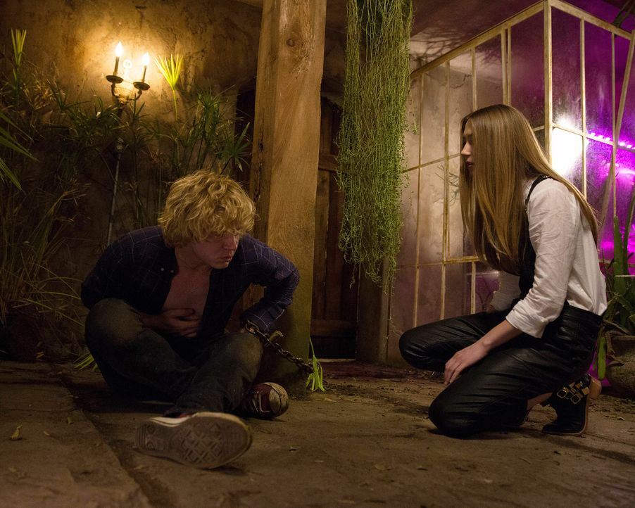 Seine Situation treibt Kyle (Evan Peters, l.) immer weiter in den Wahnsinn. Wird Zoe (Taissa Farmiga, r.) ihn erlösen? - Bildquelle: 2013-2014 Fox and its related entities. All rights reserved.