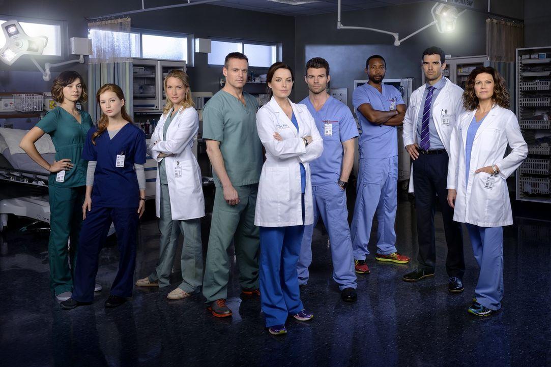 (3. Staffel) - Kämpfen im Hope Zion Hospital um das Leben eines jeden Patienten: (v.l.n.r.) Dr. Maggie Lin (Julia Taylor Ross), Dr. Sydney Katz (Sta... - Bildquelle: 2014 Hope Zee Three Inc.