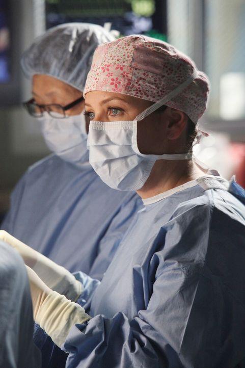 Während Arizona (Jessica Capshaw) alles versucht um Callie zurückzubekommen, schwirren im Krankenhaus Erstsemester herum, die den Ärzten für einen T... - Bildquelle: ABC Studios