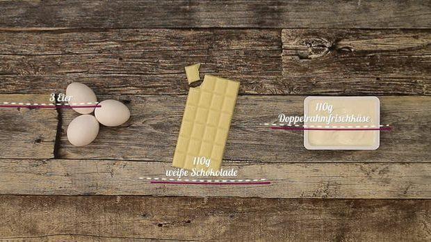 Zutaten für das einfachste Käsekuchen-Rezept der Welt