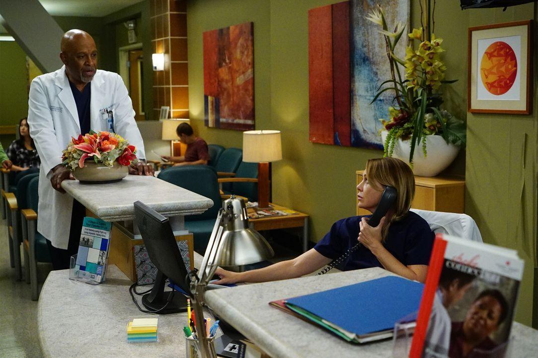 Stehen vor einen Problem, als zwei Patientinnen gleichzeitig eine Lebertransplantation benötigen: Meredith (Ellen Pompeo, r.) und Webber (James Pick... - Bildquelle: Richard Cartwright 2016 American Broadcasting Companies, Inc. All rights reserved.