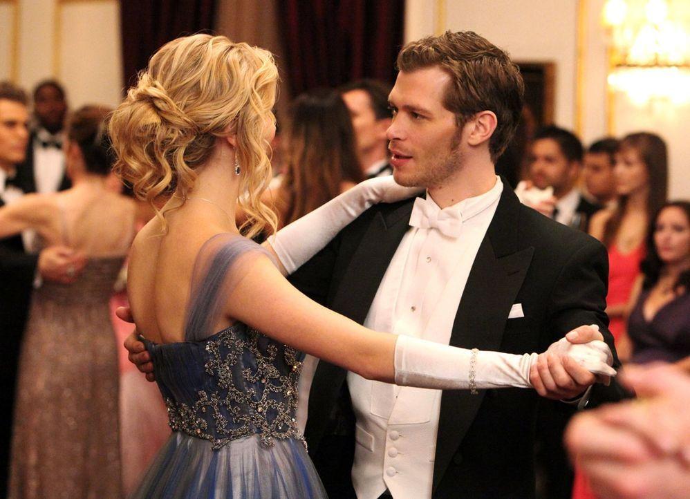 Klaus (Joseph Morgan, r.) nutzt die Chance und macht sich an Caroline (Candice Accola, r.) heran, die den Avancen nicht abgeneigt zu sein scheint ... - Bildquelle: Warner Brothers