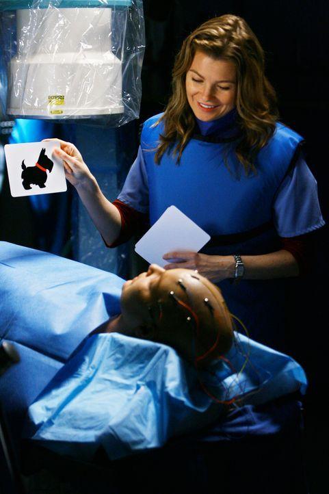 Um festzustellen, ob Izzies (Katherine Heigl, unten) OP ohne bleibende Schäden verlaufen ist, zeigt Meredith (Ellen Pompeo, oben) ihr einige Bilder... - Bildquelle: Touchstone Television