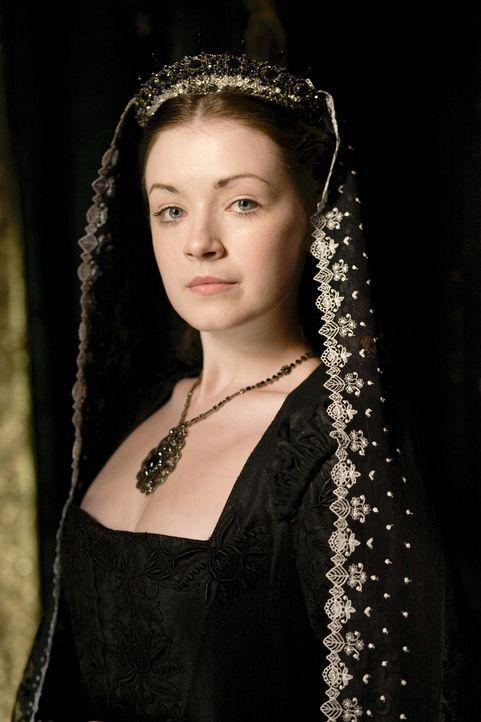 Im Angesicht des Todes begegnet König Henry VIII. noch einmal der Geist seiner ersten Ehefrau Königin Katharina von Aragon, die ihm Vorwürfe mach... - Bildquelle: 2010 TM Productions Limited/PA Tudors Inc. An Ireland-Canada Co-Production. All Rights Reserved.