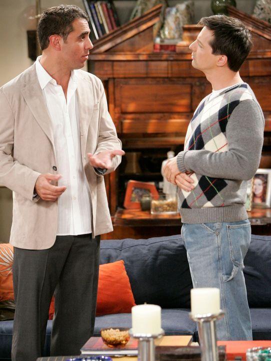 Männergespräche: Vince (Bobby Cannavale, l.) und Jack (Sean Hayes, r.) ... - Bildquelle: Chris Haston NBC Productions