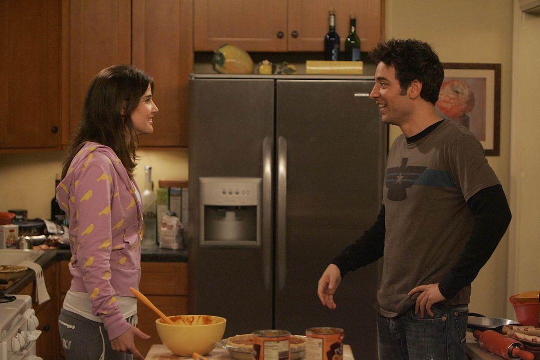Lily plant zum ersten Mal für die Clique eine Thanksgivingfeier zu veranstalten. Robin (Cobie Smulders, l.) und Ted (Josh Radnor, r.) wollen dafür e... - Bildquelle: 20th Century Fox International Television