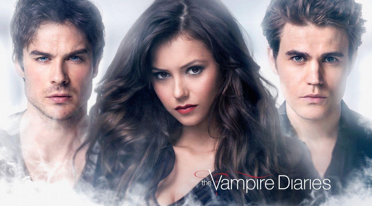 (6. Staffel) - In welcher Beziehung stehen Damon (Ian Somerhalder, l.), Elena (Nina Dobrev, M.) und Stefan (Paul Wesley, r.) zueinander, nachdem der... - Bildquelle: Warner Bros. Entertainment, Inc.