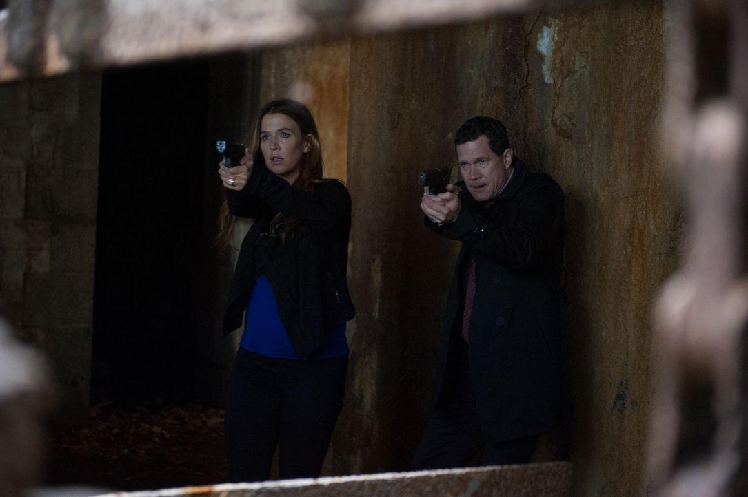 Ermitteln in einem neuen Fall: Carrie (Poppy Montgomery, l.) und Al (Dylan Walsh, r.) ... - Bildquelle: 2014 Broadcasting Inc. All Rights Reserved.