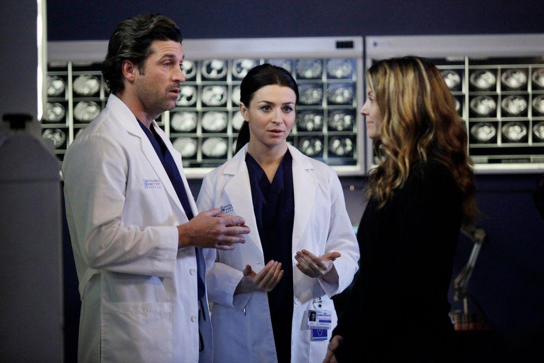 Während Scott die Beziehung zu Violet intensivieren möchte, versuchen Derek (Patrick Dempsey, l.), Lexie und Amelia (Caterina Scorsone, M.) alles,... - Bildquelle: ABC Studios