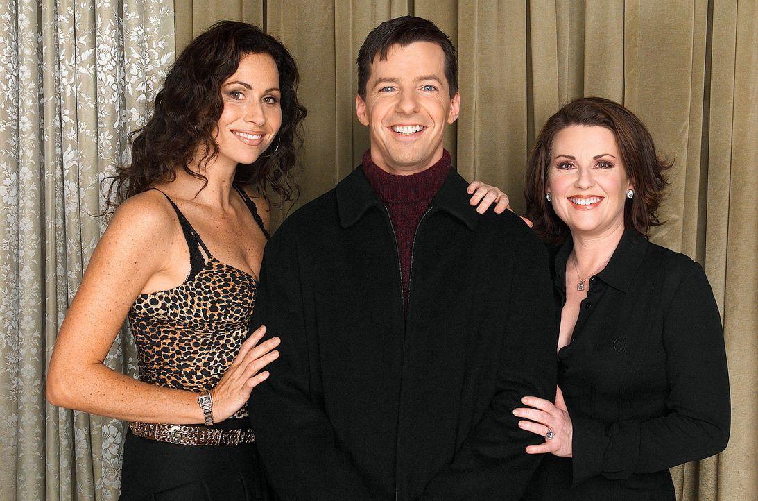 Selten vereint: Jack (Sean Hayes, M.), Lorraine (Minnie Driver, l.) und Karen (Megan Mullally, r.) ... - Bildquelle: NBC Productions