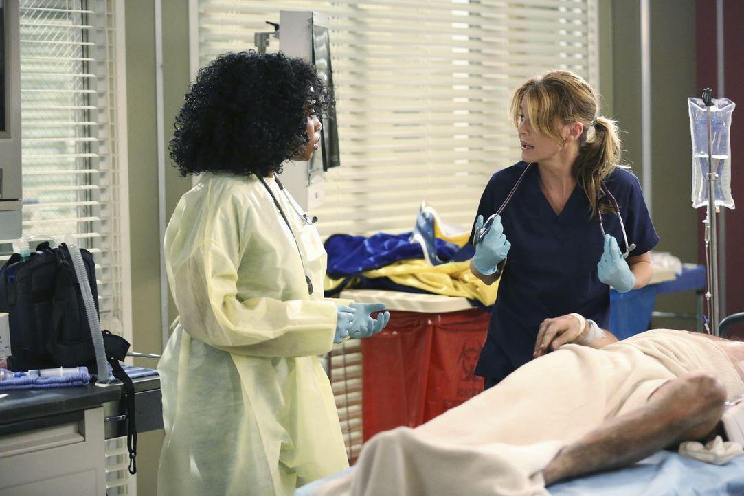 Notfall: Stephanie (Jerrika Hinton, l.) und Meredith (Ellen Pompeo, r.) kämpfen um das Leben eines Patienten ... - Bildquelle: ABC Studios