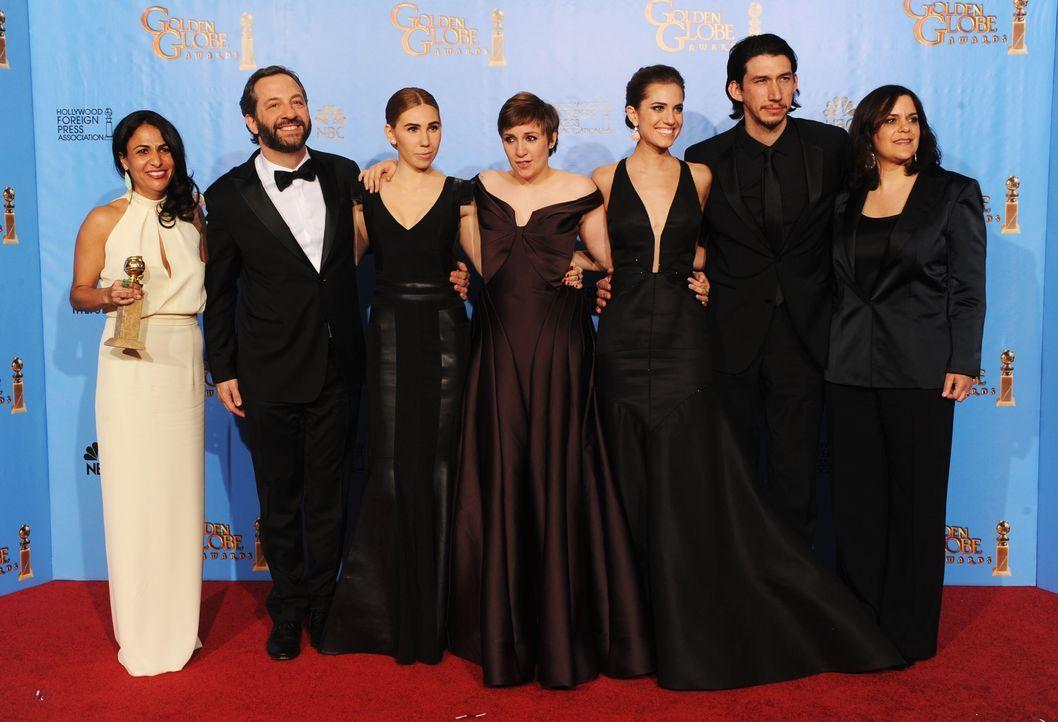 """Der Cast von """"Girls"""" bei den Golden Globes 2013 - Bildquelle: AFP"""