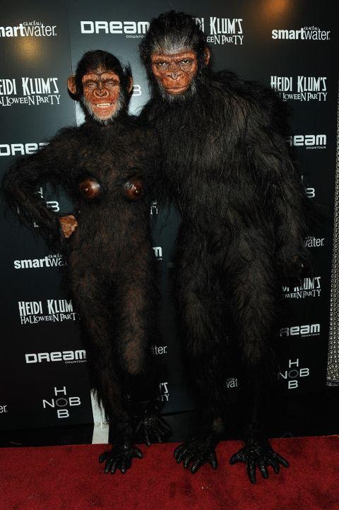 Heidi Klum: Halloween als Affe - Bildquelle: AFP