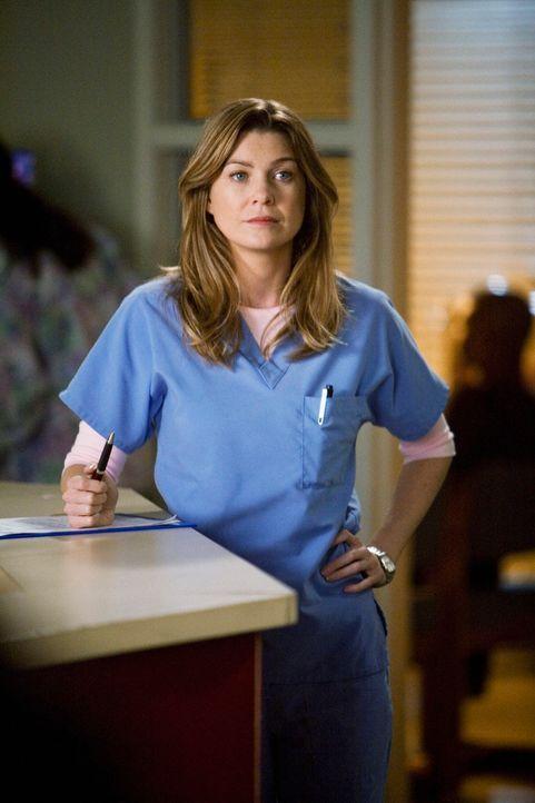 Hat Bammel vor einem Treffen mit Dereks Mutter: Meredith (Ellen Pompeo) ... - Bildquelle: Touchstone Television