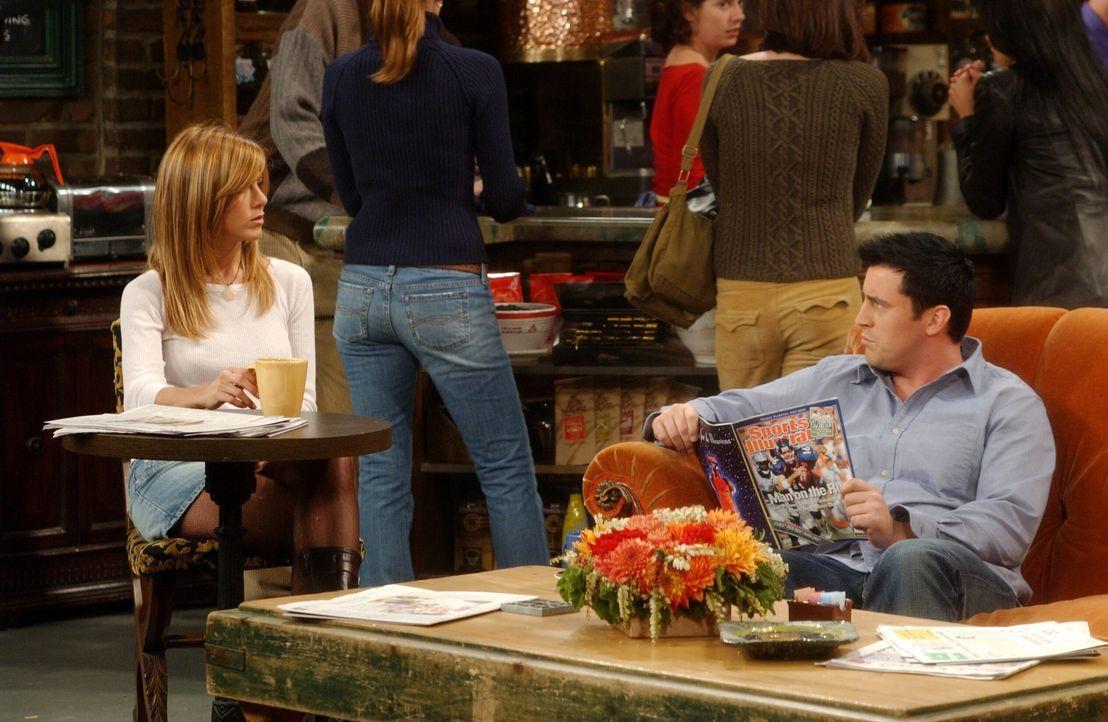 Freunde fürs Leben: Joey (Matt LeBlanc, r.) und Rachel (Jennifer Aniston, r.) ... - Bildquelle: 2003 Warner Brothers International Television