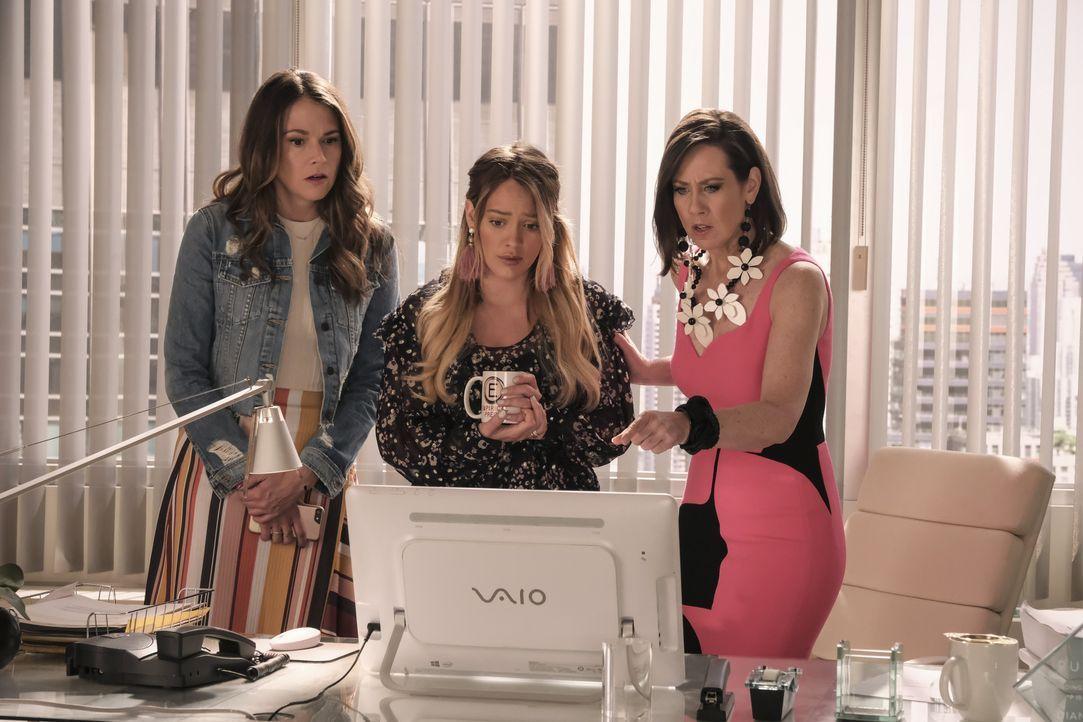 (v.l.n.r.) Liza Miller (Sutton Foster); Kelsey Peters (Hilary Duff); Diana Trout (Miriam Shor) - Bildquelle: Hudson Street Productions Inc 2018