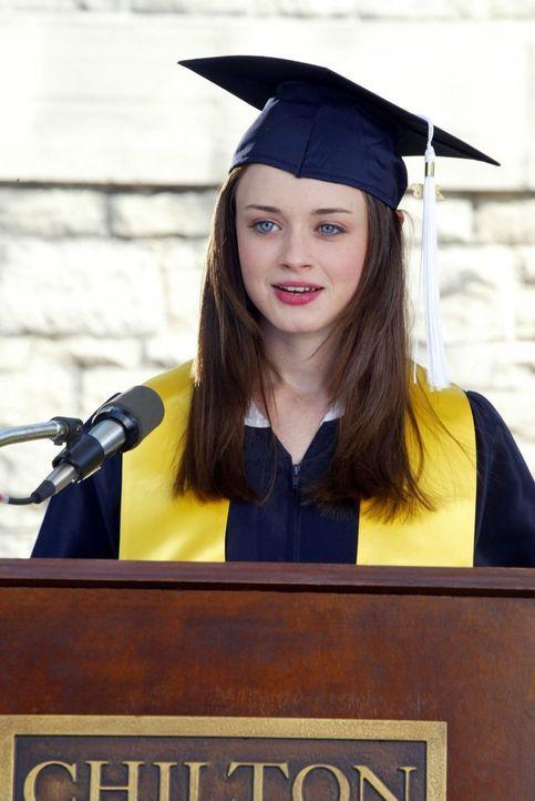 Rory (Alexis Bledel) ist geschockt, als sie erfährt, dass ihre Mutter ihren großen Traum aufgeben will, damit sie Rorys Studium finanzieren kann ... - Bildquelle: 2002 Warner Bros.