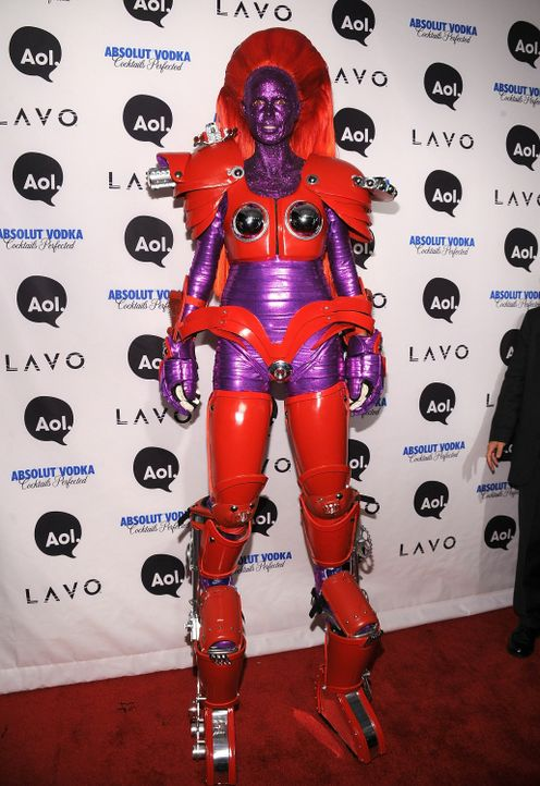 Heidi Klum: Halloween als Superheldin - Bildquelle: AFP