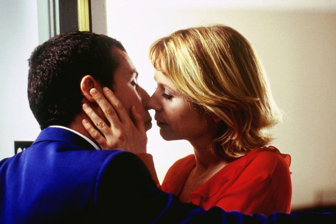 Als Barry (Adam Sandler, l.) die geheimnisvolle Lena (Emily Watson, r.) kennen lernt, nimmt sein Leben eine unerwartete Wendung ... - Bildquelle: Senator Film