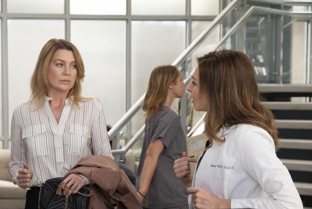 Dr. Meredith Grey (Ellen Pompeo, l.); Dr. Amelia Shepherd (Caterina Scorsone, r.) - Bildquelle: Rick Rowell ABC Studios / Rick Rowell